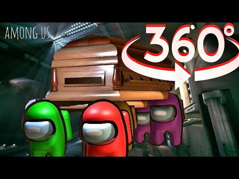 (New) Among us 360° video vr - coffin dance