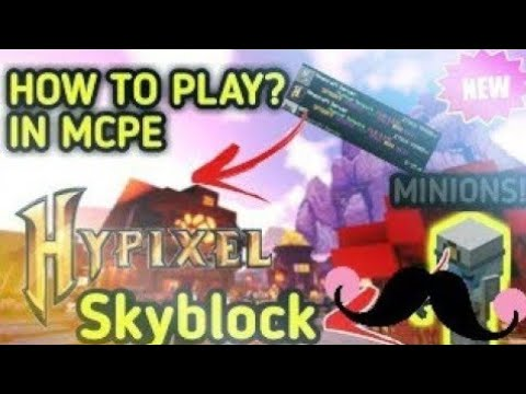 (New) How to play hypixel on minecraft pe | fallen tech hypixel skyblock on minecraft pe | mcpe |