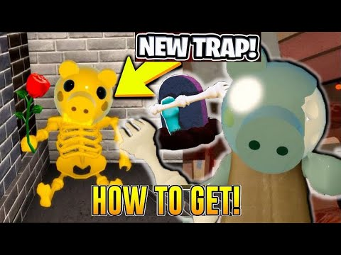(New) How to unlock tombstone traps! new secret piggy trap.. (piggy halloween event new update)