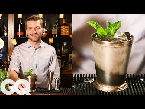 (HD) How to make a classic mint julep with gq e the clover club's tom macy