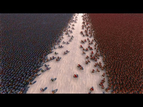 (New) 30000 romans vs 30000 spartans - ultimate epic battle simulator