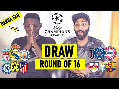 (New) Crazy live reaction! champions league draw 2020-21 | barca fan want to forfeit | chelsea psg atm rma