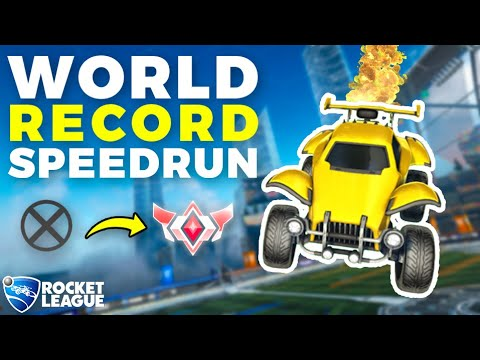 (HD) Rocket league world record speedrun (unranked to grand champ)
