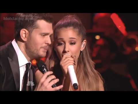 (New) Michael buble e ariana grande santa claus is coming to town