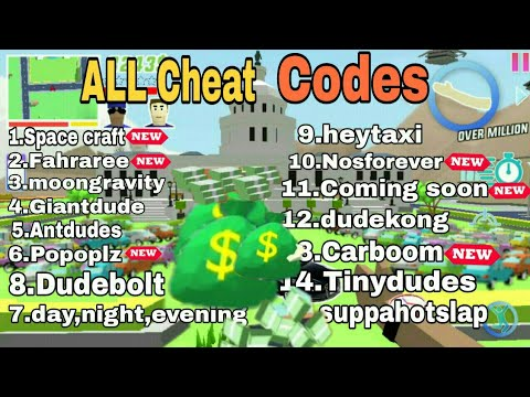 (New) All cheat codes  dude theft wars all cheat codes  dude theft wars hame play  rachit gamerz