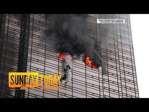 (New) Fire at trump tower leaves 1 dead, 6 firefighters injured   sunday today