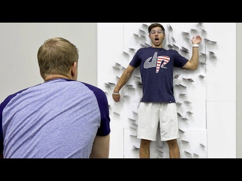 (New) Card throwing trick shots | dude perfect