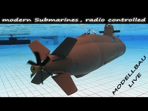 (HD) Rc submarines | modern u-boots at the modellbau live - subwaterfilm