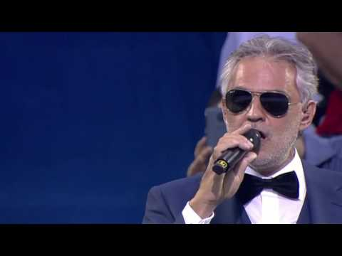 (New) Andrea bocelli uefa champions league final opening ceremony 2016