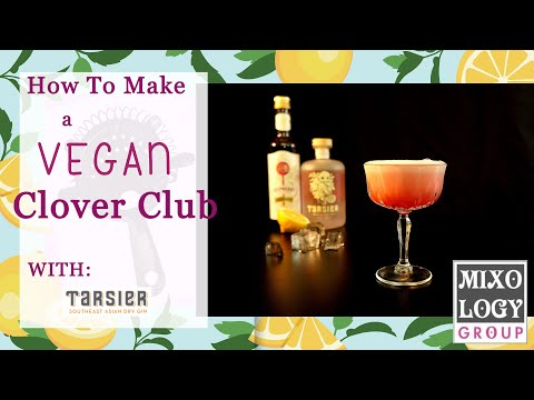 (HD) How to make a vegan clover club cocktail