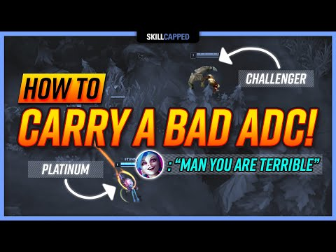 (New) How to carry bad low elo adc players as support! - support guide
