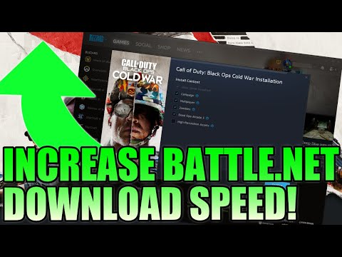 (New) Increase download speed for call of duty cold war pc tutorial | boost blizzard download speeds