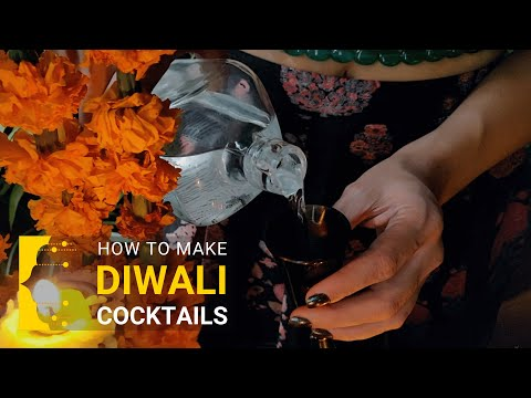 (HD) How to make diwali cocktails with feni e gin at home