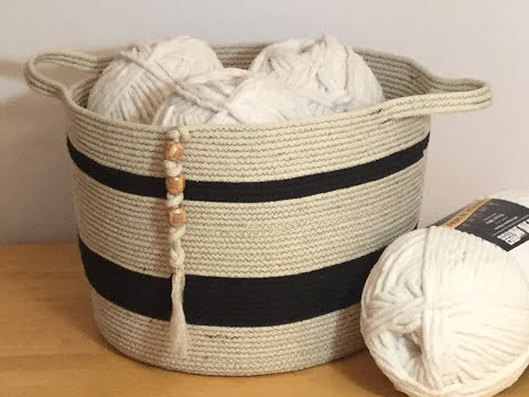 (New) How to - make large cotton rope storage basket