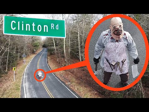 (New) When your drone sees this on haunted clinton road do not try to pass him! drive away fast!