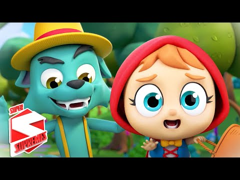 (New) Little red riding hood | nursery rhymes e kids songs | fairy tales | baby song with super supremes