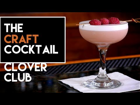 (HD) How to make the clover club cocktail