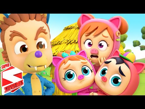 (New) Three little pigs | story time | pretend play song | bedtime stories for kids with super supremes