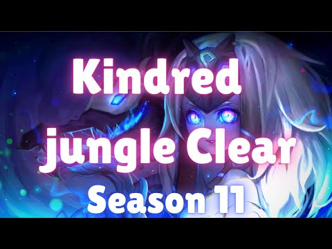 (New) Kindred jungle clear | season 11 | kindred jungle full clear (fastest route with runes) | patch 11.5