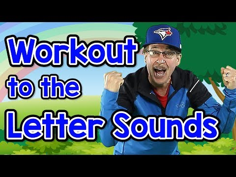 (VFHD Online) Workout to the letter sounds | version 2 | letter sounds song | phonics for kids | jack hartmann