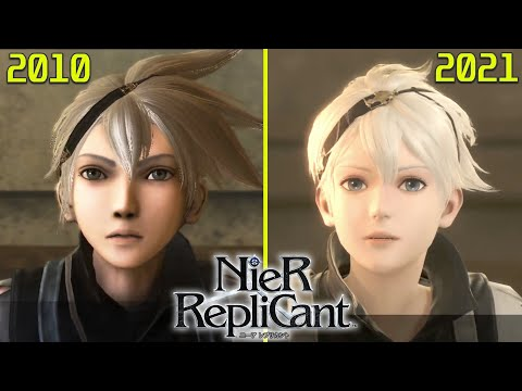 (New) Nier replicant (ニーアレプリカント ) original ps3 vs ps4 remaster early graphics comparison (new gameplay)