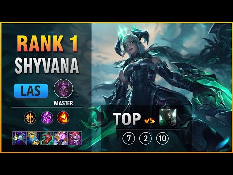 (New) Rank 1 las shyvana top vs mordekaiser patch 11.3