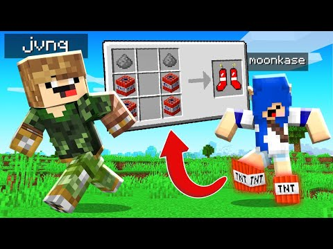 (New) Como craftar botas de tnt no minecraft (explodem)