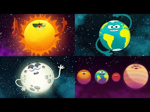(New) Storybots outer space | planets, sun, moon, earth and stars | solar system super song | fun learning