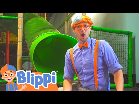 (Ver Filmes) Playing with blippi at the kids club indoor playground | educational videos for kids