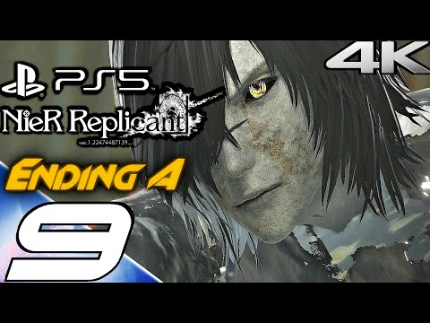 (New) Nier replicant ps5 gameplay walkthrough part 9 - ending a e final boss (4k 60fps) full game