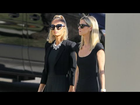 (New) Paris and nicky hilton join the family at grandpa barrons funeral