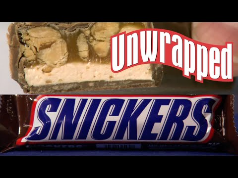(New) How snickers chocolate bars are made | unwrapped | food network