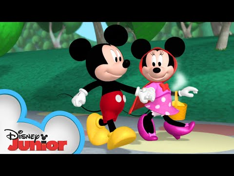 (New) Minnie is red riding hood 🎀| mickey mornings | mickey mouse clubhouse | disney junior