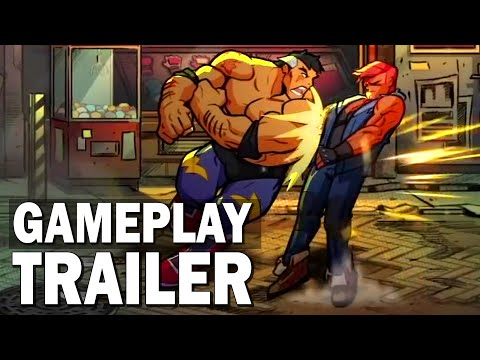 (New) Streets of rage 4 : max thunder gameplay trailer (mr x nightmare dlc)
