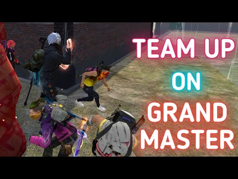 (New) Solo vs squad teamup on grandmaster ❤️ !!!!
