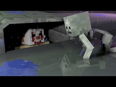 (HD) Monster school: it scary sewer challenge!! - minecraft animation