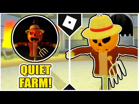 (New) How to get quiet farm badge + scarecrow morph in accurate piggy roleplay! [roblox]
