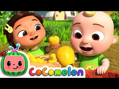 (New) Counting apples at the farm! | cocomelon nursery rhymes e baby songs | moonbug kids