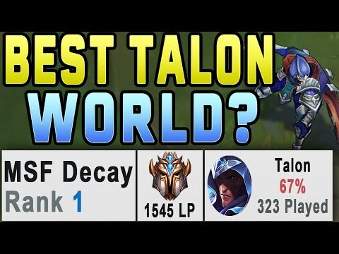 (New) How this talon hit rank 1 euw | 32 kill challenger game