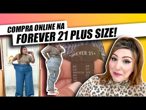 (New) Compras na forever 21 plus size online!