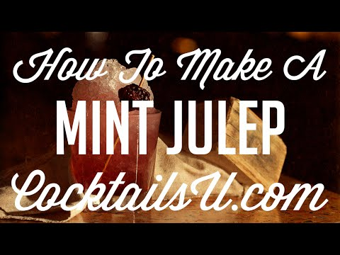 (HD) How to make a mint julep - cocktail tutorial - cocktails u