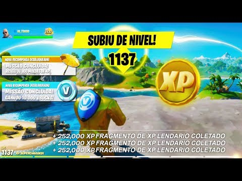 (New) Novo bug de xp infinito no fortnite capitulo 2 ( +500 mil de xp )
