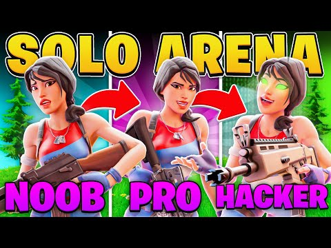 (VFHD Online) I practiced 3 levels of solo arena! (fortnite battle royale)