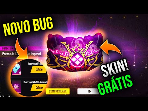 (New) Novo bug! skin do gelo de graça pegue agora no freefire