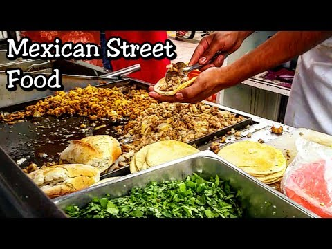(New) Real mexican street tacos - street food that will blow your mind!! - best mexican street food