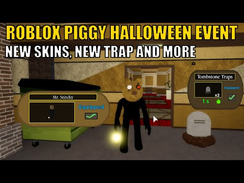 (HD) [full tutorial] new piggy halloween event new skins and new trap | roblox piggy