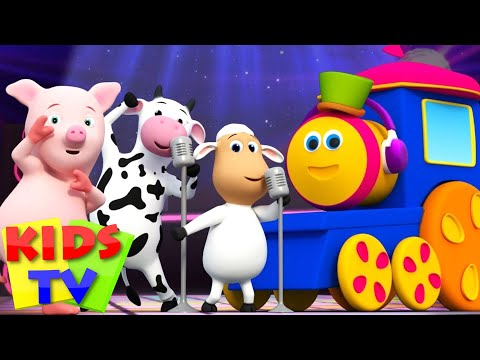 (VFHD Online) Animal sounds songs for kids | kids tv shows | going to the zoo | bob the train | funny animals