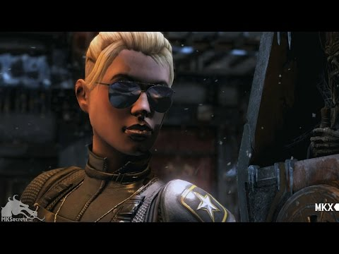 (New) Mortal kombat x: all cassie cage intro dialogue (character banter) 1080p hd
