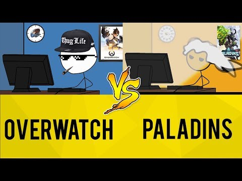 (New) Overwatch gamers vs paladins gamers