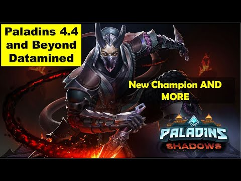(New) Paladins 4.4 and beyond datamined - new champion, skins and more